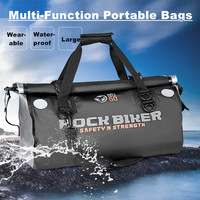 ROCK BIKER Motorcycle Rear Bag Motorbike Travel Back Seat Bag Tail Bag Waterproof Luggage Large capacity Top Cases