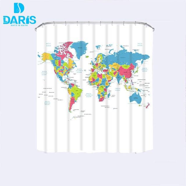 Creative fabric shower curtain world map bathroom waterproof not creative fabric shower curtain world map bathroom waterproof not transparent classic designer model bath shower curtain gumiabroncs Choice Image