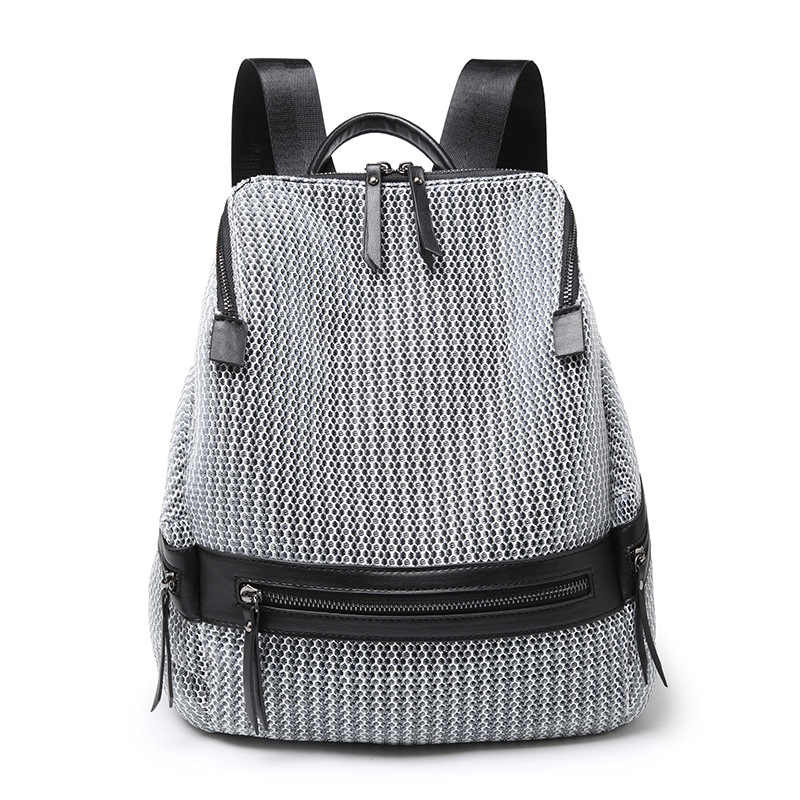 Fashion Genuine Leather Women Backpack Hot High Quality Famous Brand Ladies Student Style Girls School Bag Female Travel C694