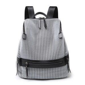 Модный женский рюкзак из натуральной кожи, хит продаж, высокое качество, известный бренд, женская школьная сумка в студенческом стиле для де...