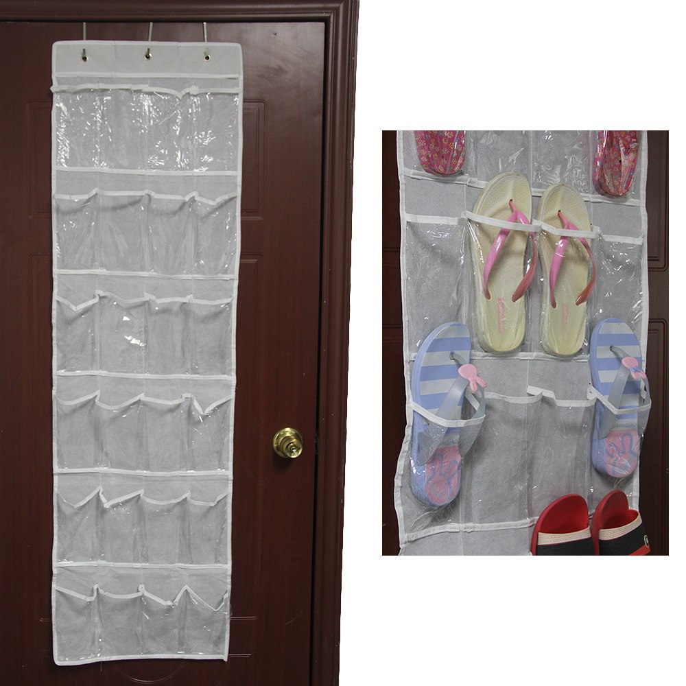 Delicieux Online Shop Newest 24 Pockets Shoes Storage Bag Clear Over Door Hanging Shoe  Organizer Rack With