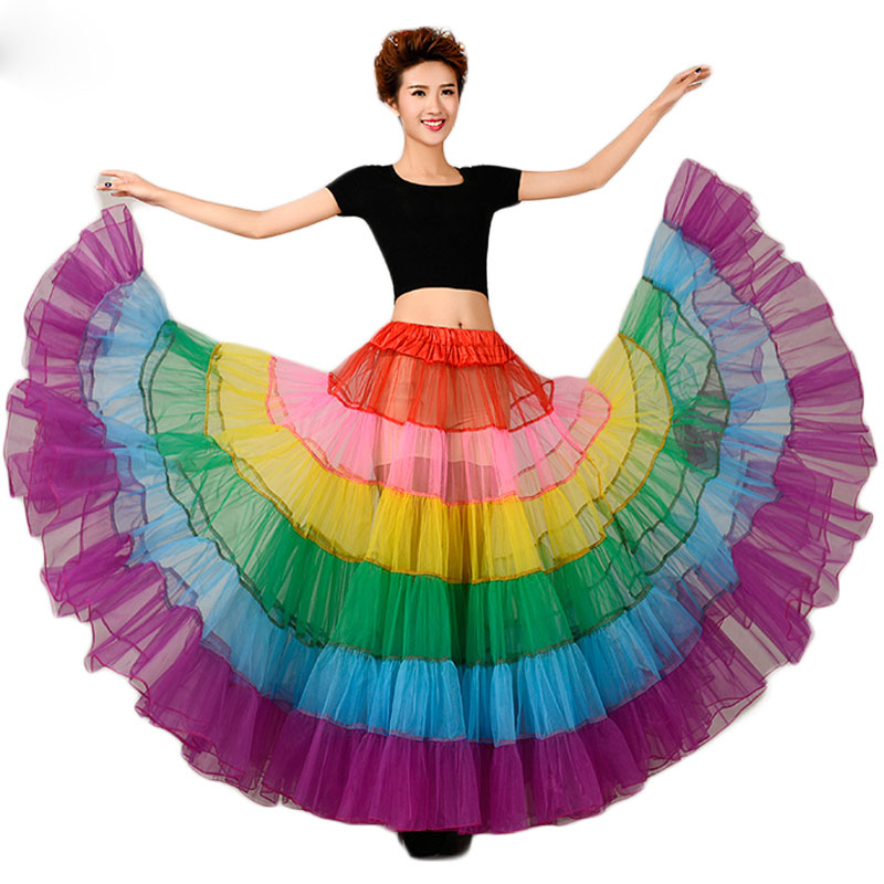Sensfun Tutu Skirt Silps Swing Rainbow Petticoat Underskirt Crinoline fluffy Pettiskirt for Wedding Bridal Vintage Women Gown