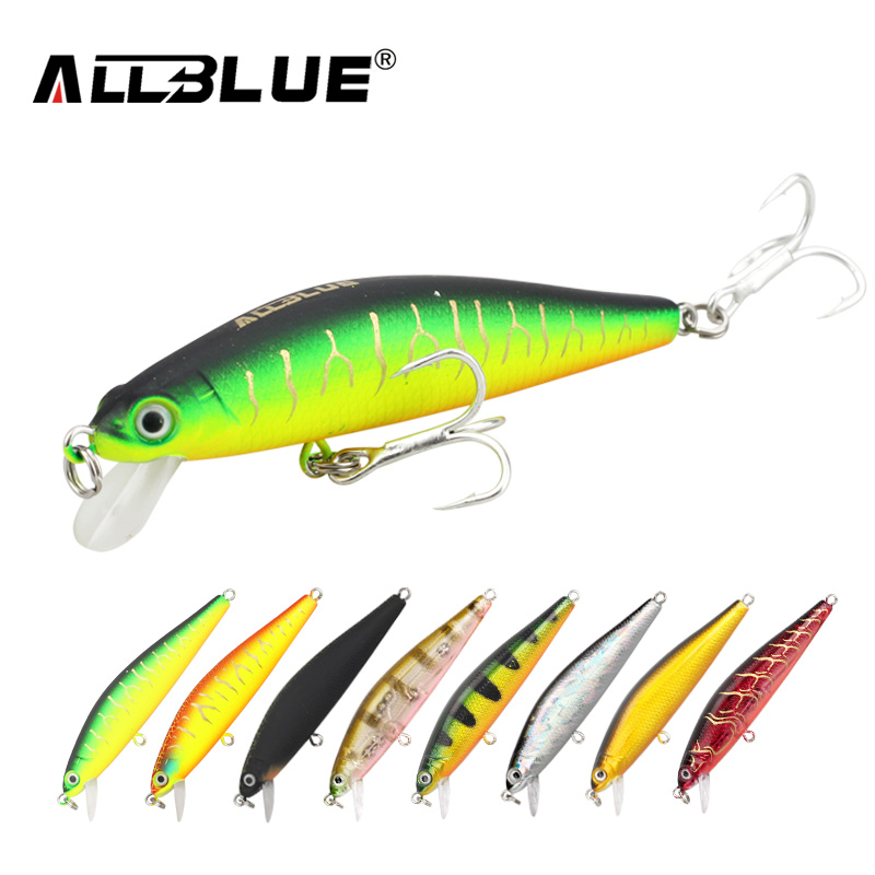 ALLBLUE Suspend Minnow 70mm 6.5g 1M Dive Artificial Bait Plastic Hard 3D Eyes Fishing Lures Wobbler Fishing Bait Fishing Tackle allblue slugger 65sp professional 3d shad fishing lure 65mm 6 5g suspend wobbler minnow 0 5 1 2m bass pike bait fishing tackle