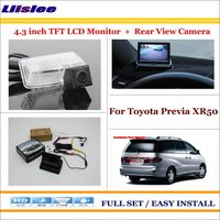 Liislee For Toyota Previa XR50 In Car 4.3 Color LCD Monitor + Car Rear Back Up Camera = 2 in 1 Park Parking System