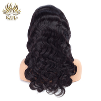 King Hair Body Wave Lace Front Human Hair Wigs Natural Color Brazilian Remy Hair Lace Wigs