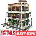 DHL 15017 Expert вид на улицу города 4616 шт книжный магазин наборы для кафе совместимые Legoing Модели Строительные Конструкторы кирпичи игрушки подар...