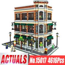 DHL 15017 Expert вид на улицу города 4616 шт книжный магазин наборы для кафе совместимые Legoing Модели Строительные Конструкторы кирпичи игрушки подарки