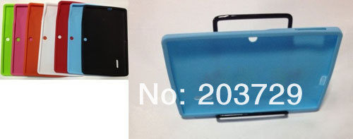 Newest Soft Silicone Case Skin Cover For Allwinner A13 Q8 Q88  Tablet PC  10pcs/lot Free shipping