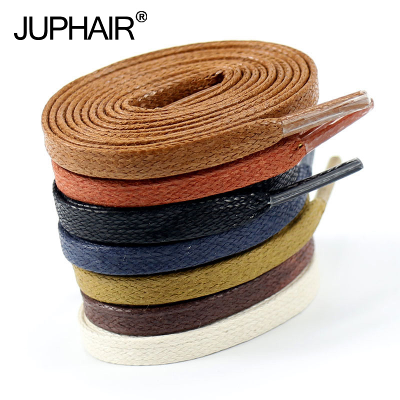 JUP 8 Pairs Waxed Cotton Flat Shoelaces Leather Shoes Shoestring Leather Boots Shoe Laces Martin Boots Shoelaces Length 60-180CM