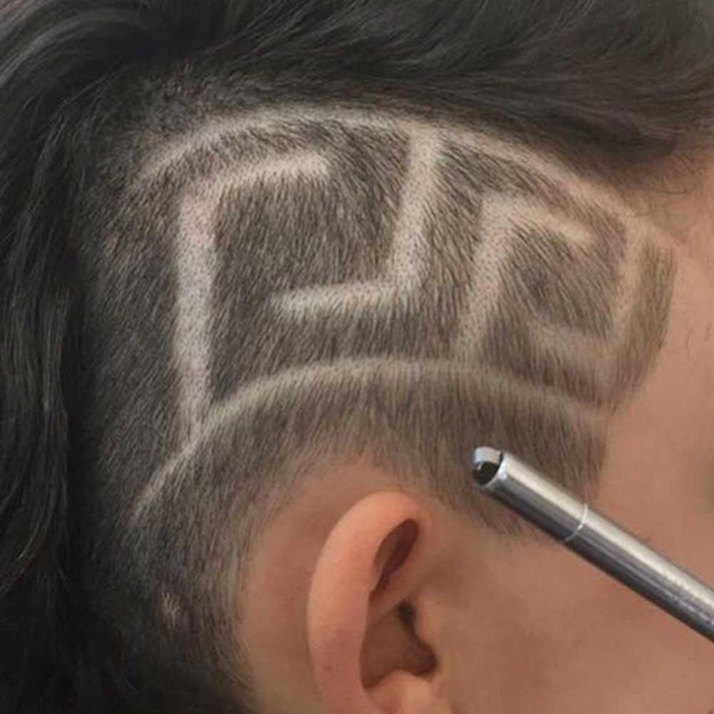 Professional Magic Engrave Beard Hair Scissors Eyebrow Carve Pen Tattoo Barber Hairdressing Scissors Eyebrow Oil Head Carving