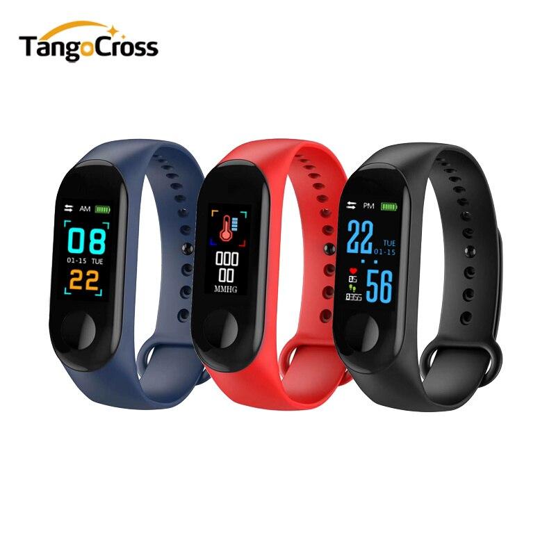 Pulsera de la presión arterial al aire libre pantalla IPS oxígeno Monitor de ritmo cardíaco pulsera inteligente M3 impermeable pulseras rastreador