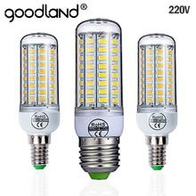 Goodland E27 светодиодный светильник 220V светодиодный лампы SMD 5730 E14 Светодиодный светильник 24 36 48 56 69 72 светодиодный s тип «Кукуруза» Люстра для дома светильник Инж