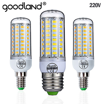 Goodland E27 LED Lamp 220V LED Bulb SMD 5730 E14 LED Light 24 36 48 56 69 72 LEDs Corn Bulbs Chandelier For Home Lighting 1