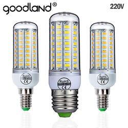 Гудленд E27 светодиодный светильник 220 V SMD 5730 E14 светодиодный свет 24 36 48 56 69 72 светодиодные лампы «Кукуруза» лампы люстры для светодиодное