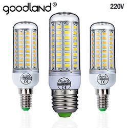 Goodland E27 светодиодный светильник 220 V SMD 5730 E14 светодиодный свет 24 36 48 56 69 72 светодиодные лампы «Кукуруза» лампы, люстры для светодиодное освеще...