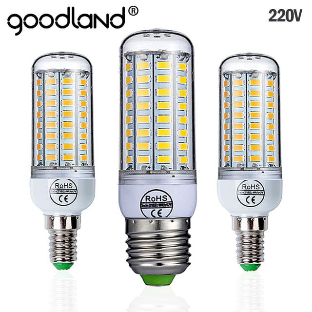 Goodland E27 LED מנורת 220 V SMD 5730 E14 LED אור 24 36 48 56 69 72 נוריות תירס הנורה נברשת לבית תאורה LED הנורה