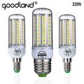 Goodland E27 LED Lamba 220 V SMD 5730 E14 LED ışık 24 36 48 56 69 72 LEDs mısır ampul Avize ev Aydınlatma LED Ampul