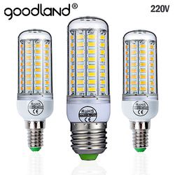 Goodland E27 LED Lamp 220V SMD 5730 E14 LED Light 24 36 48 56 69 72 LEDs Corn Bulb Chandelier For Home Lighting LED Bulb