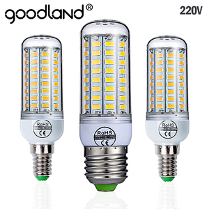 Goodland E27 LED Lamp 220V LED Bulb SMD 5730 E14 LED Light 24 36 48 56 69 72 LEDs Corn Bulbs Chandelier For Home Lighting(China)