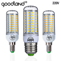 Goodland E27 LED Lamp 220V LED Bulb SMD 5730 E14 LED Light 24 36 48 56 69 72 LEDs Corn Bulbs Chandelier For Home Lighting