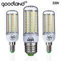 Lámpara LED Goodland E27 220V bombilla LED SMD 5730 E14 luz LED 24 36 48 56 69 72 LEDs lámpara de bulbos de maíz para iluminación del hogar