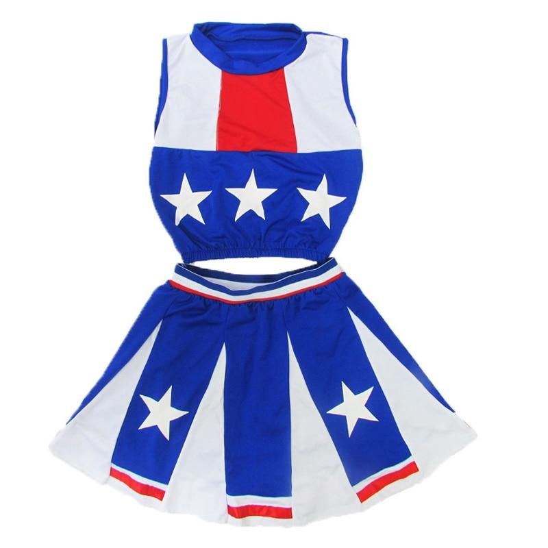 Child Competition Cheerleaders Girl School Team Uniforms KidS Kid Performance Costume Sets Girls Class Suit Girl School Suits