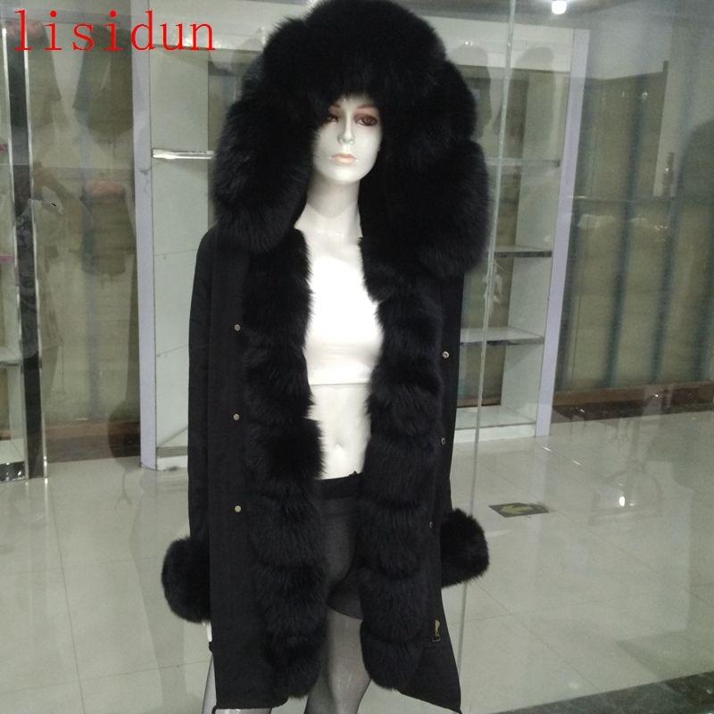 lisidun2018 természetes róka prémes kabát kabát divat róka - Női ruházat