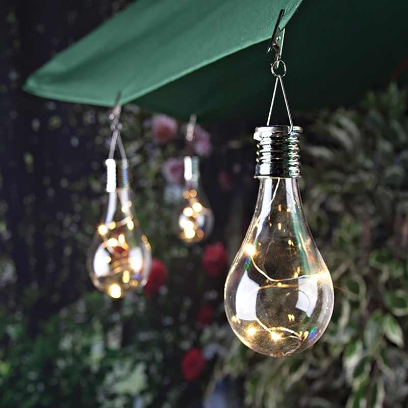 Модная креативная Солнечная светодио дный лампа для сада кемпинга Подвесная лампа красивое наружное украшение водостойкая лужайка лампа
