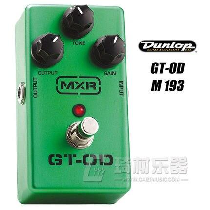 Dunlop MXR M-193 GT-OD Overdrive Pedal for Guitar dunlop winter maxx wm01 205 65 r15 t
