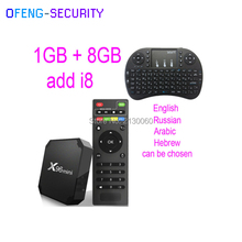 X96mini Android 7.1 with 1GB+8 GB ADD I8 Smart TV BOX Quad Core Amlogic S905W Support 2.4 WIFI+IR Cable, smart tv box