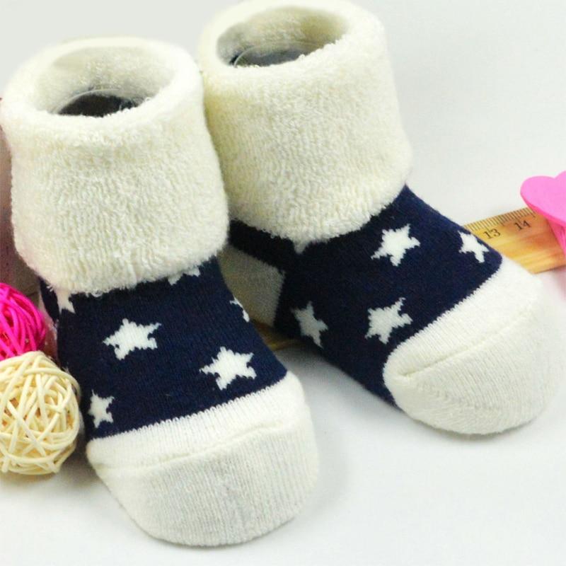 ᗕ3 par infantiles bebé niños calcetín lindo estrella Calcetines 100 ...