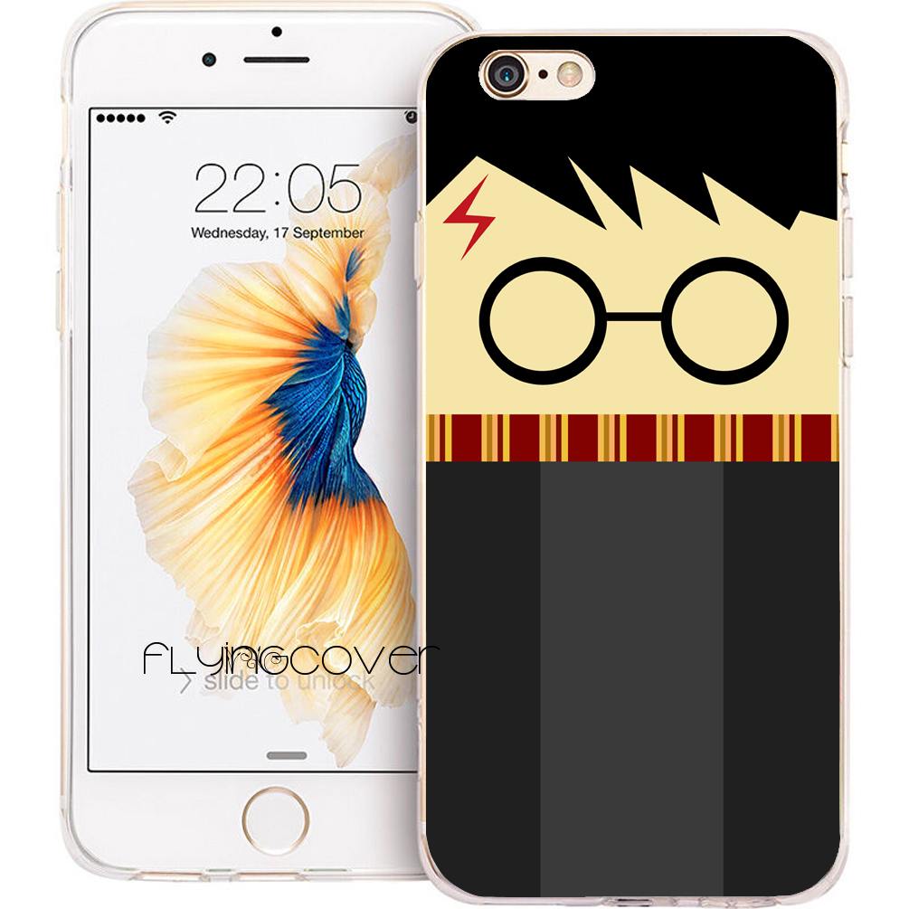 Coque Cartoon <font><b>Harry</b></font> <font><b>Potter</b></font> Clear Soft TPU Silicone Phone Cover for <font><b>iPhone</b></font> X 7 <font><b>8</b></font> Plus <font><b>Case</b></font> for <font><b>iPhone</b></font> 5S 5 SE 6 6S Plus 4S 4 <font><b>Case</b></font> image