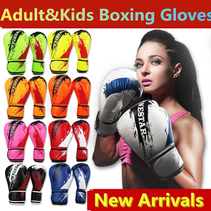 Haute qualité professionnel gants de boxe enfant adulte frappé sac de sable gants lutte grappin MMA gants sac lourd muay thai gants