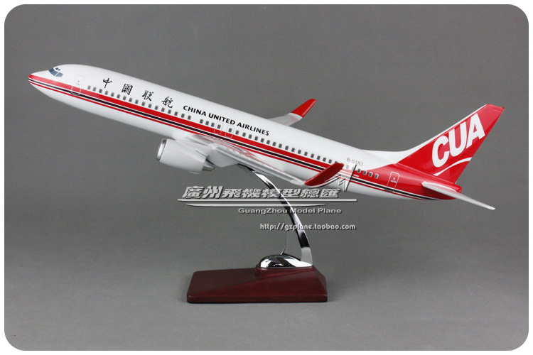 цена 47cm Resin China United Airlines Model Boeing 737-800 B-5183 Airplane Model B737 Airways Airbus Model China CUA Aviation Model