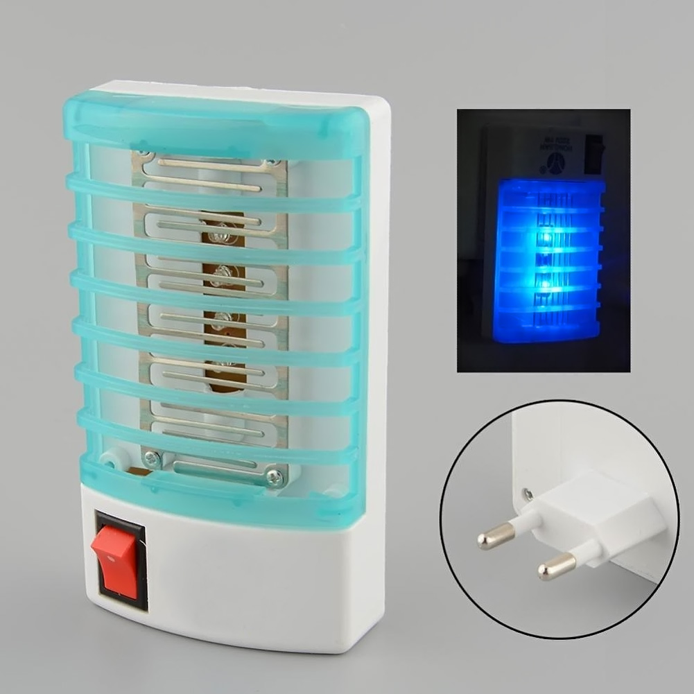 Socket Electric Mini Mosquito Lamp LED Insect Mosquito Repeller killing Fly Bug Insect Night Housefly Freeshipping