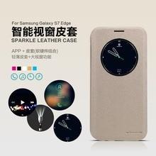 Interlligent Кожаный Чехол для Samsung Galaxy S7 край Оригинал NILLKIN Искра серии Мода Откидная Крышка для Samsung S7 края