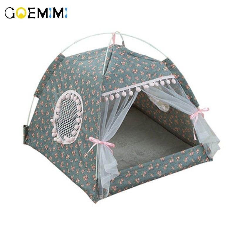 2019 Cão de Estimação Dobrável Portátil Casa Tenda Respirável Impressão Gato de Estimação Casa com Rede Indoor Outdoor Malha Gato Cão Pequeno casa tenda