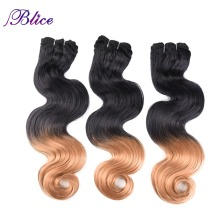 Blice Synthetic Hair Weaving 18-26 Inches #T Colors Body Wave Double Long Weft Sew in Extensions 100G/Piece 3Pieces/Lot