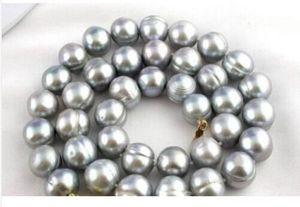 Элегантное серое жемчужное ожерелье tahitian 12-13 мм 18 дюймов> Бесплатная доставка