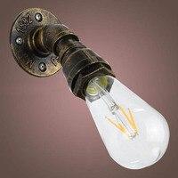 E27 lampe halter Edison Lampen Dorf Loft Industriellen Eisen Wasser Rohr Wand Lampe Loft Vintage Verwenden Licht Bad Licht AA-in Lampensockel aus Licht & Beleuchtung bei