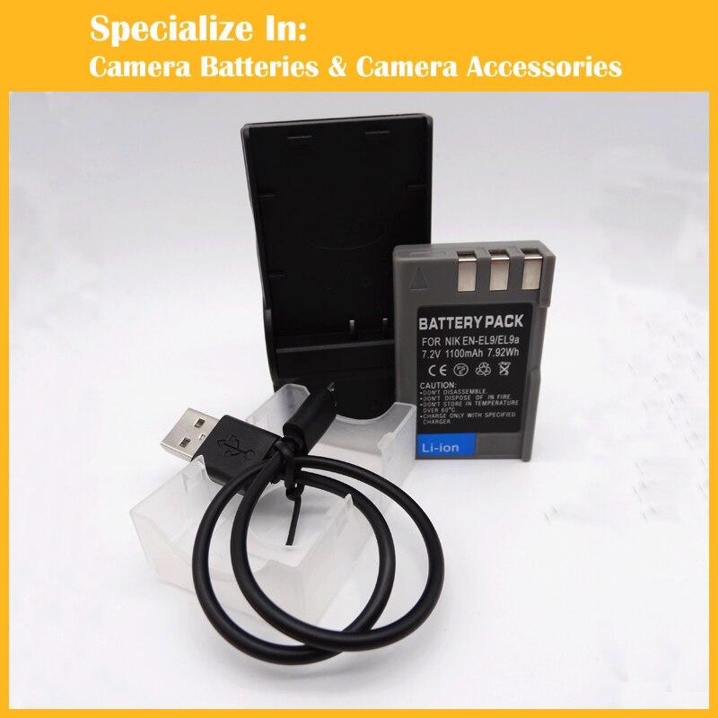 1pcs rechargeable battery charger MH23 EN EL9 ENEL9 For Nikon DF D40 D70s D700 D5100 D3000