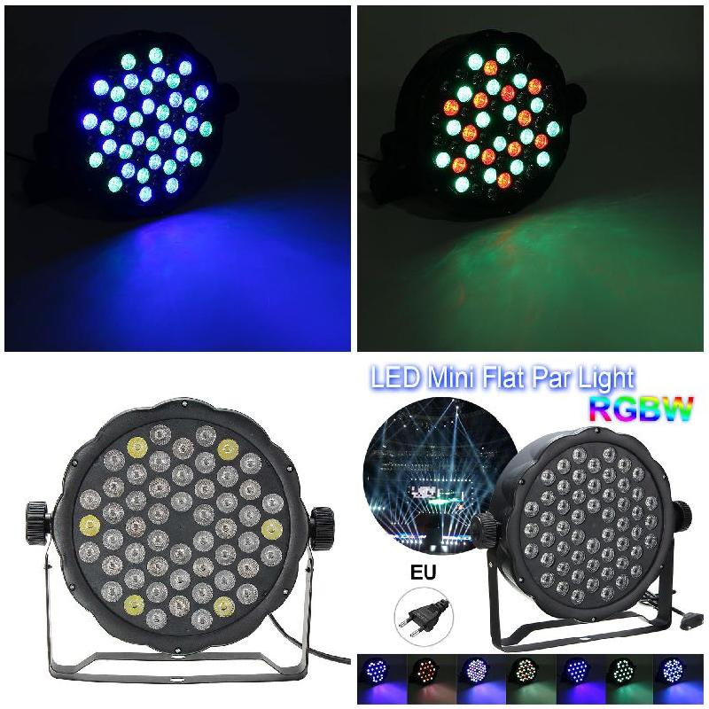 RGBW 54Pcs LED Light 162W PAR 64 DMX Indoor DJ Party Club Stage Show Lighting ALI88 цена