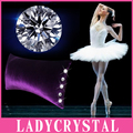 Ladycrystal Waist Pillows Luxury Diamond Velvet Pillows Auto Car Styling Interior Waist Pillow Accessories