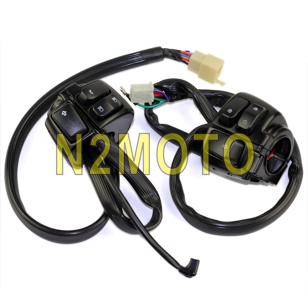Motorcycle 1 Handlebar Control Switches Wiring Harness For Harley Softail Dyna Sportster V Rod Black 25mm Handle Bar On Alibaba Group