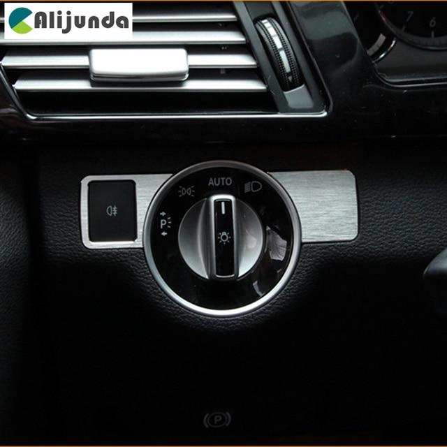 2 Pièces Phares Réglage Boutons Intérieur Garniture Décoration Autocollant  Pour Mercedes Benz W176 B W246 C