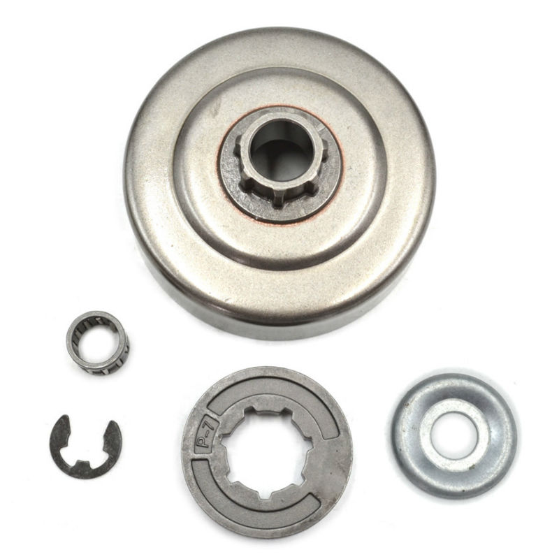 Chain Rim Sprocket P-7 Split Clutch Drum with Bearing Washer Circle Set fit Stihl MS180 170 017 018 Chainsaw Aftermarket Parts