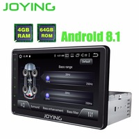 8 TDA7851 Single Din 4GB +64GB Octa Core Android 8.1 Universal Car Radio Stereo Head Unit GPS Navigation Player Built in DSP