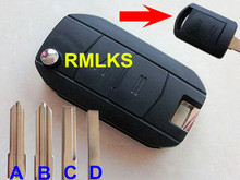 RMLKS 2 Button Flip Remote Key Case Shell Replacement Combo Blank Blade Key FOB Cover For Opel Vauxhall Corsa C Meriva