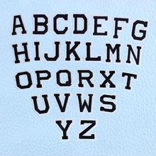 1pc Pure Black English Alphabet Iron on Patches Decal Embroidery for Clothing  Jacket Jeans Sewing Diy Coat Ironing Stickers