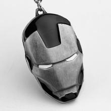 Marvel Super Hero The Avengers Iron Man Mask Metal Pendant Keychains